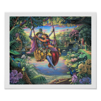 Julan Leela- The Swing Pastime -Print Poster