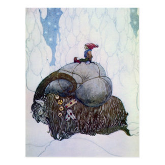 Julbocken Riding Yule Goat Postcard