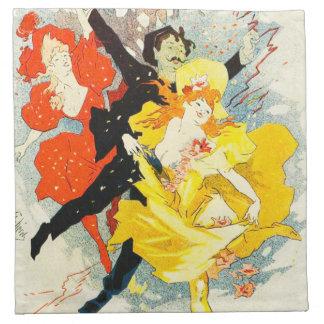 Jules Cheret Art Nouveau Napkins