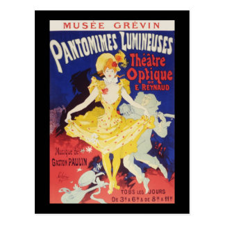 Jules Cheret Pantomimes Lumineuses Postcard