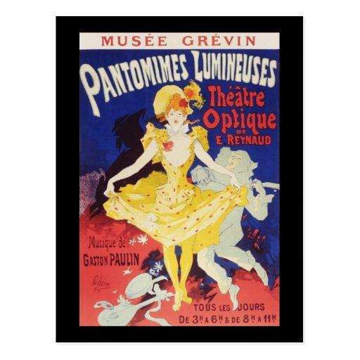 Jules Cheret Pantomimes Lumineuses Post Card