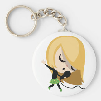 Jules the Singer Basic Round Button Key Ring