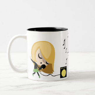 Jules the singer Two-Tone coffee mug