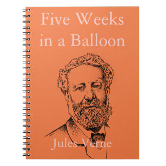 Jules Verne the steampunk writer Spiral Notebook