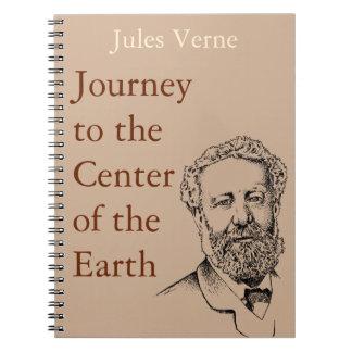 Jules Verne the steampunk writer Spiral Notebook