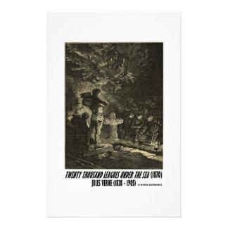Jules Verne Twenty Thousand Leagues Funeral Custom Stationery