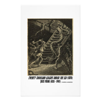 Jules Verne Twenty Thousand Leagues Squid Customized Stationery
