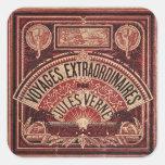 "JULES VERNE ""VOYAGES EXTRAORDINAIRES"" (1878) SQUARE STICKERS"