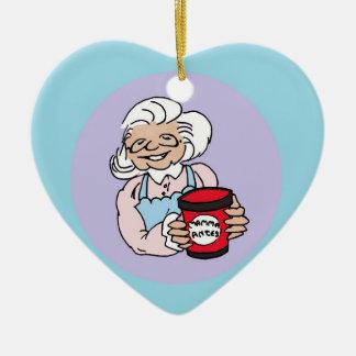 Julgransprydnad heart ceramic heart decoration
