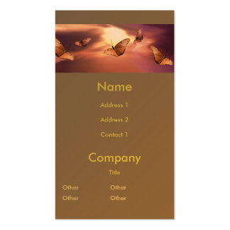 Julia Butterfly Pack Of Standard Business Cards