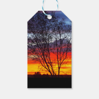 Julia Creek sunset silhouette gift tags