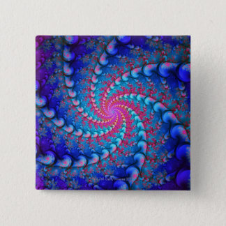 Julia Fractal 15 Cm Square Badge