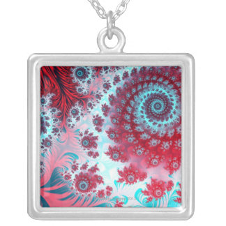 Julia Fractal 3 Silver Plated Necklace