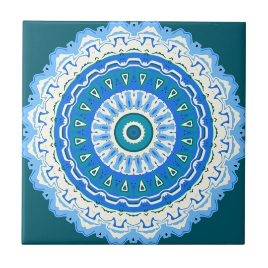 Julia Mandala Blue Tile