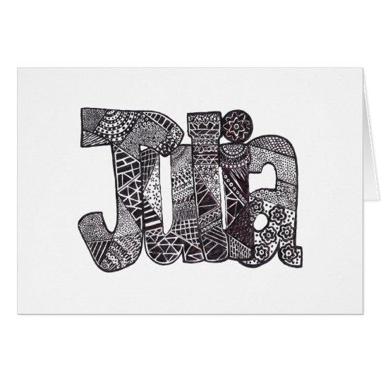 Julia Personalised Note Card