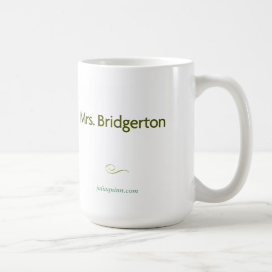 "Julia Quinn ""Mrs. Bridgerton"" Mug"