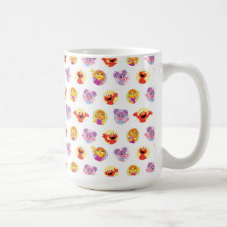 Julia & Sesame Street Friends Pattern Coffee Mug