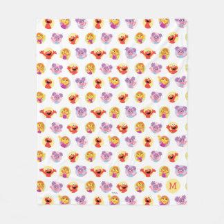 Julia & Sesame Street Friends Pattern Fleece Blanket