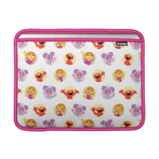 Julia & Sesame Street Friends Pattern MacBook Sleeve