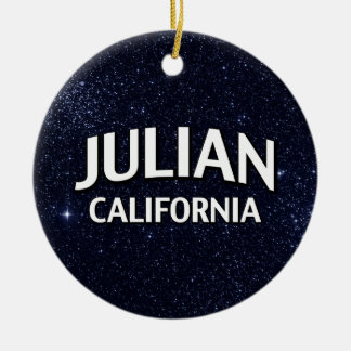 Julian California Christmas Ornament