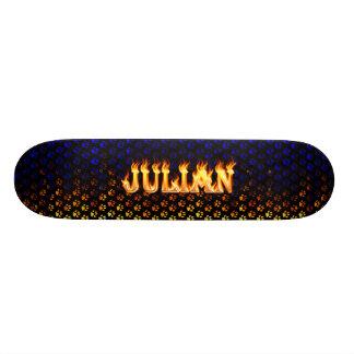 Julian skateboard fire and flames design.