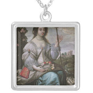Julie d'Angennes  as Astree Silver Plated Necklace