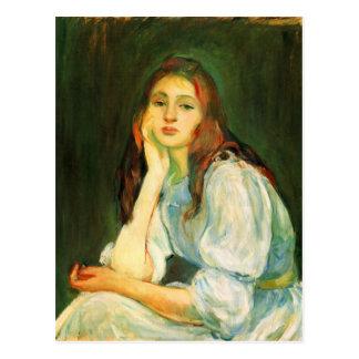 Julie dreaming by Berthe Morisot Postcard