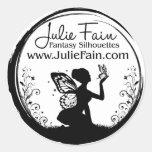 Julie Fain Fantasy Silhouettes Logo Stickers