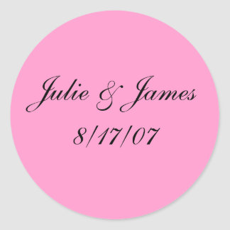 Julie & James8/17/07 Classic Round Sticker