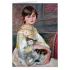 Julie Manet (Child With Cat) Renoir Card