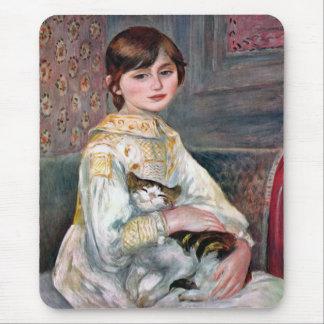 Julie Manet (Child With Cat) Renoir Mouse Mat