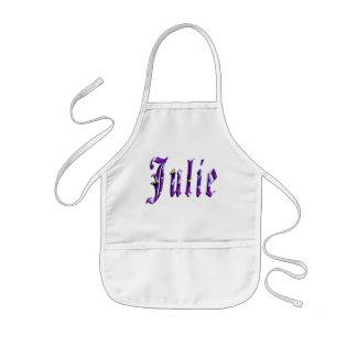 Julie, Name, Logo, Girls Artistic Kindy Apron