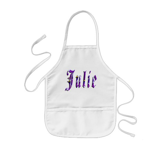Julie, Name, Logo, Girls Artistic Kindy Apron