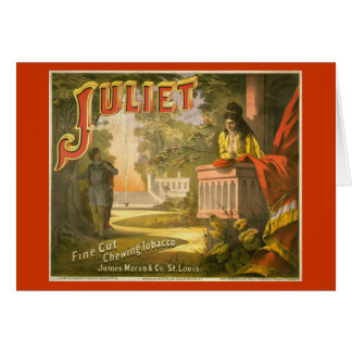 Juliet Chewing Tobacco Greeting Card