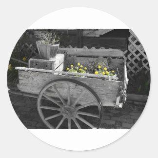 Juliette Georgia old wagon Round Sticker
