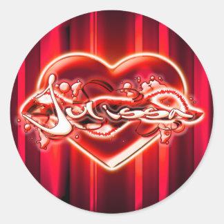 Julissa Round Sticker
