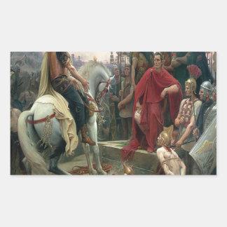 Julius Caesar I Came I Saw I Conquered Rectangular Sticker