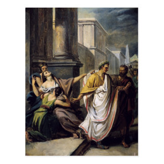 Julius Caesar  on his way to the Senate Postcard