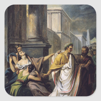 Julius Caesar  on his way to the Senate Square Sticker