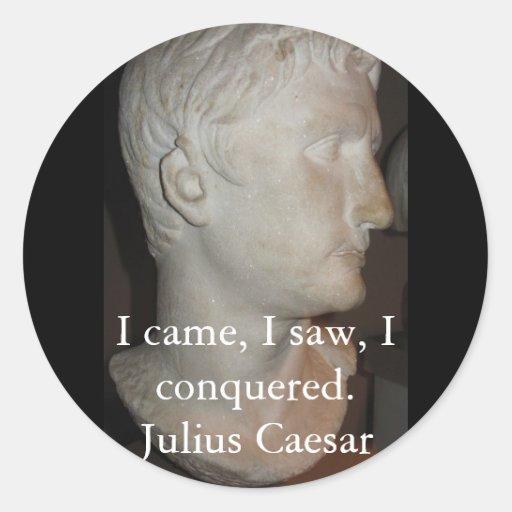 Julius Caesar QUOTATION famous quote Round Stickers