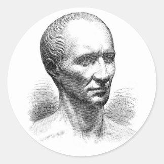 Julius Ceaser Round Stickers