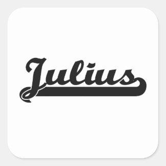 Julius Classic Retro Name Design Square Sticker