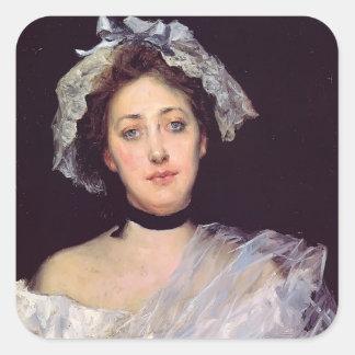 Julius LeBlanc Stewart- An English Lady Square Stickers