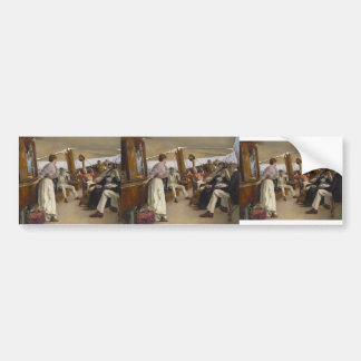 "Julius LeBlanc Stewart- On Yacht ""Namouna"", Venice Bumper Stickers"