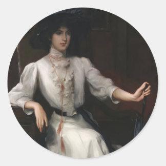 Julius LeBlanc Stewart- Portrait of a Woman Stickers