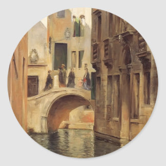 Julius LeBlanc Stewart- Venetian Canal Sticker