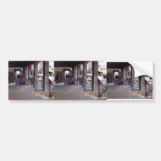 Julius LeBlanc Stewart- Venetian Market Scene Bumper Sticker
