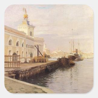 Julius LeBlanc Stewart-View Of Venice (The Dogana) Stickers