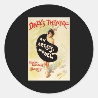 Julius Price Daly's Theatre An Artist's Model Round Sticker