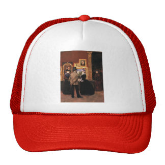 Julius Stewart-Ladies with a Gentleman in Top Hat